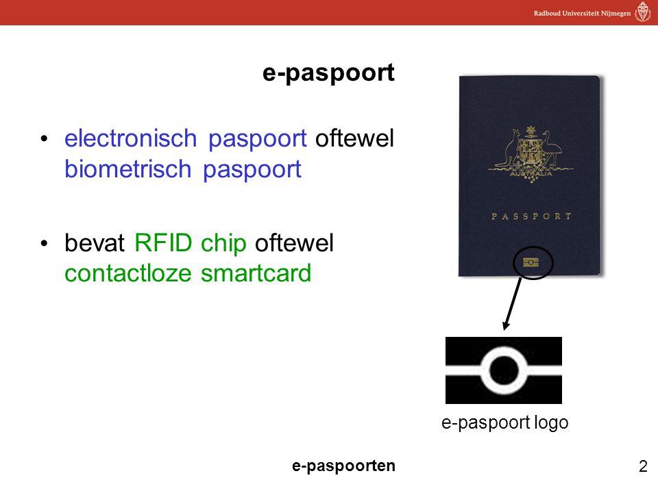 electronisch paspoort oftewel biometrisch paspoort