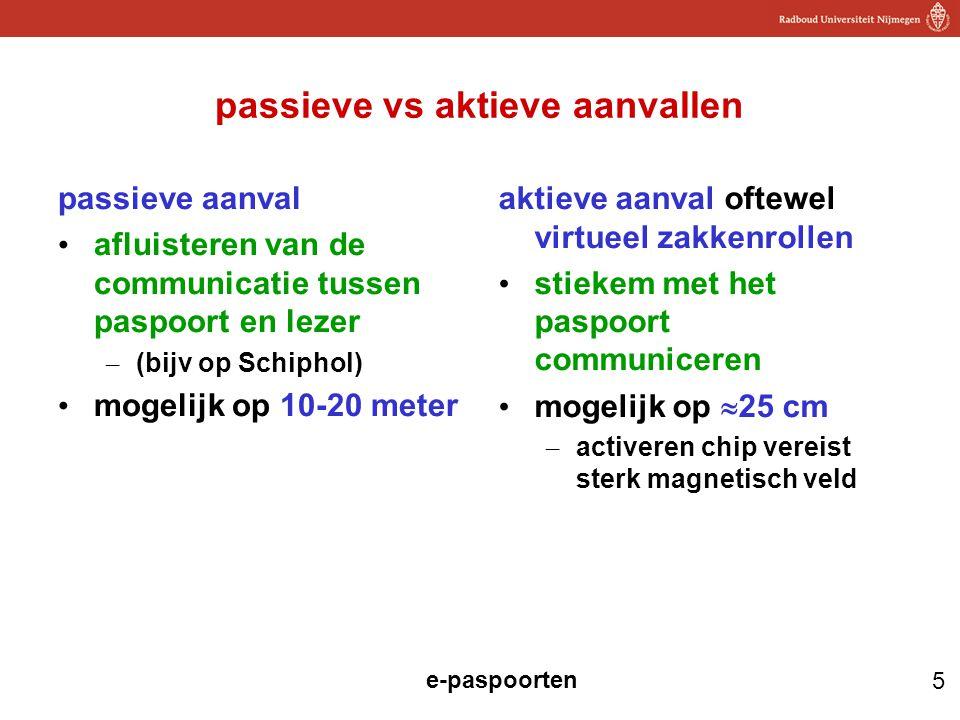 passieve vs aktieve aanvallen