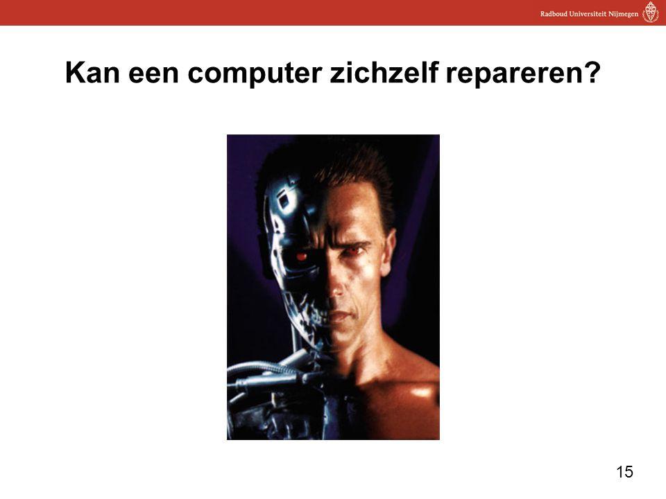 Kan een computer zichzelf repareren