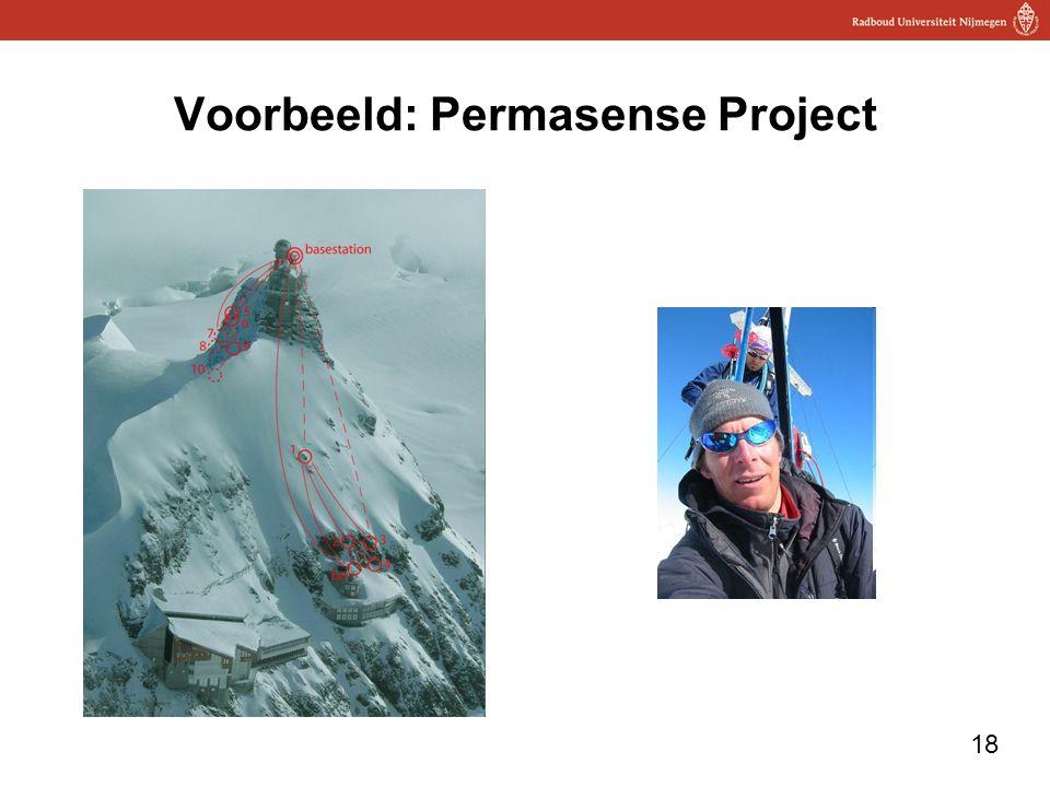 Voorbeeld: Permasense Project