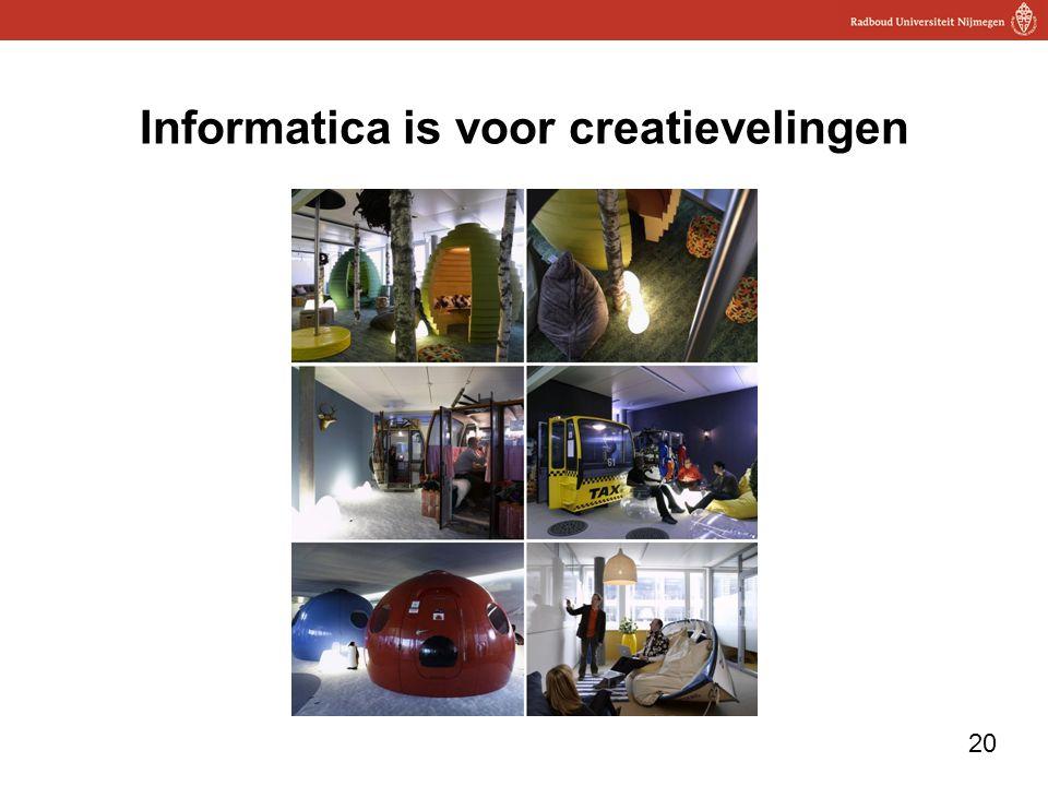 Informatica is voor creatievelingen