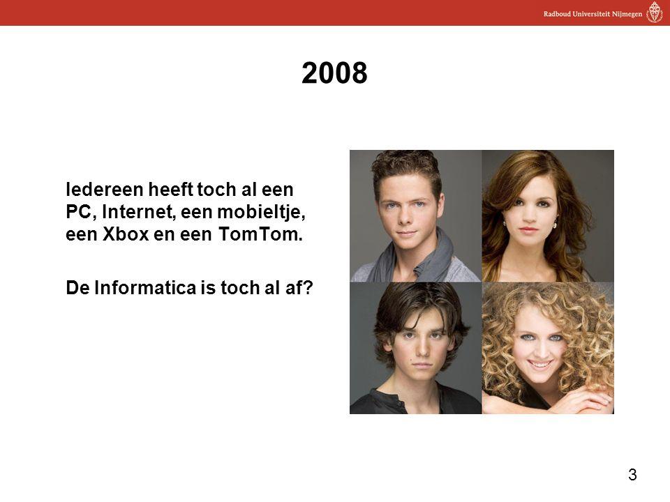 2008 Iedereen heeft toch al een PC, Internet, een mobieltje, een Xbox en een TomTom.