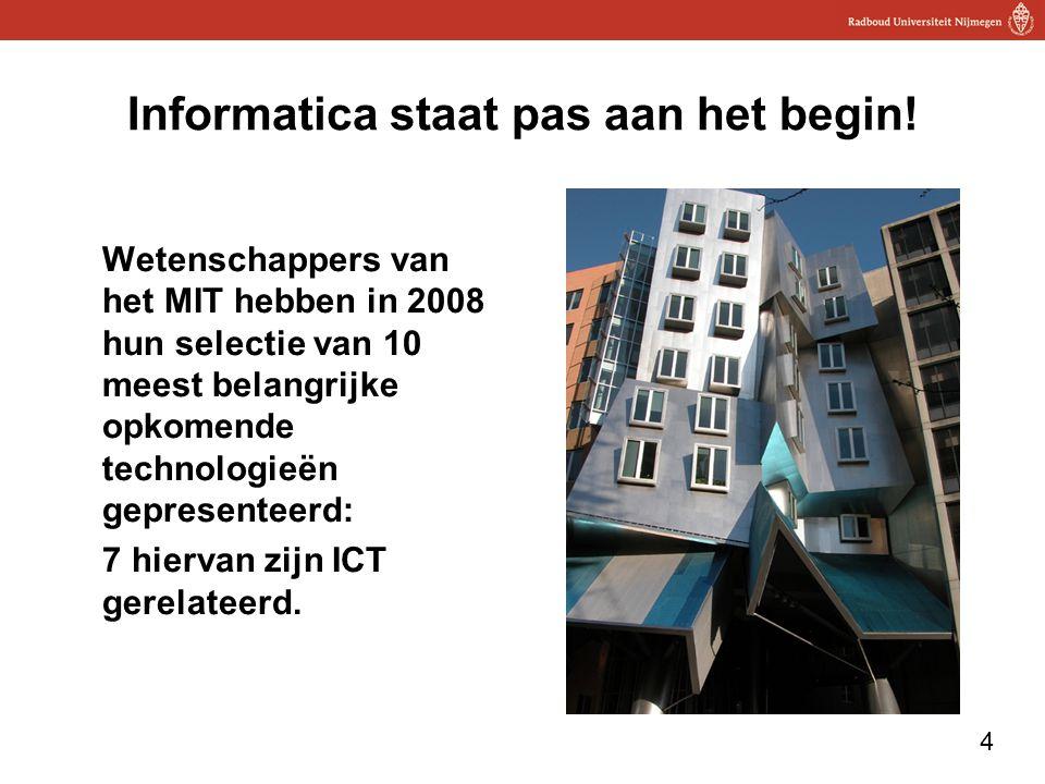 Informatica staat pas aan het begin!
