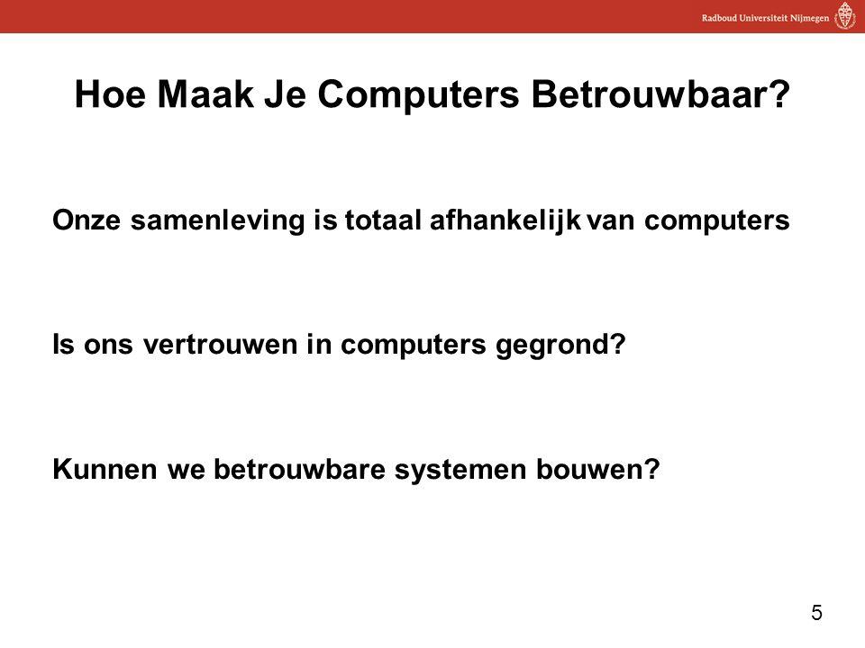 Hoe Maak Je Computers Betrouwbaar
