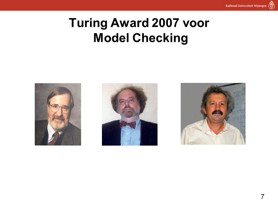 Turing Award 2007 voor Model Checking