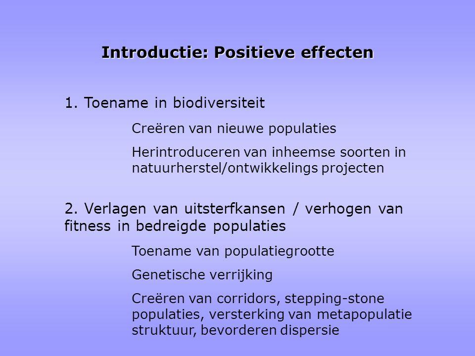 Introductie: Positieve effecten