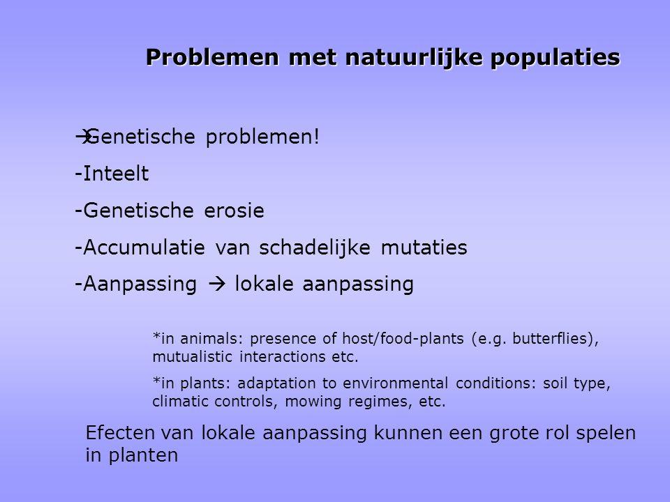 Problemen met natuurlijke populaties