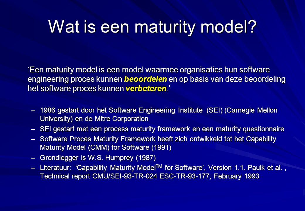 Wat is een maturity model