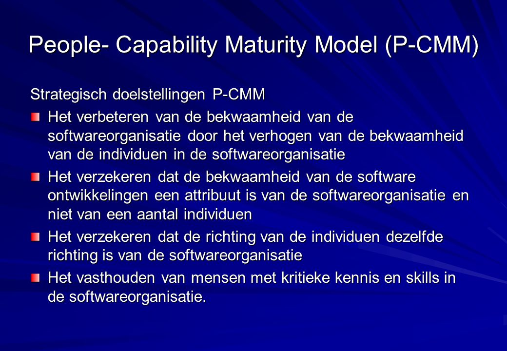 People- Capability Maturity Model (P-CMM)