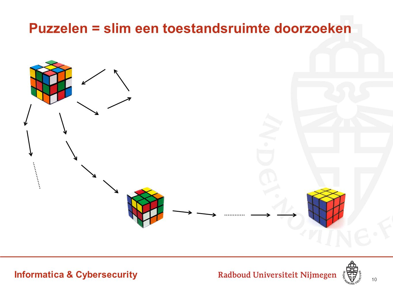 Puzzelen = slim een toestandsruimte doorzoeken