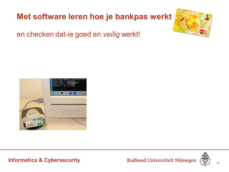 Met software leren hoe je bankpas werkt