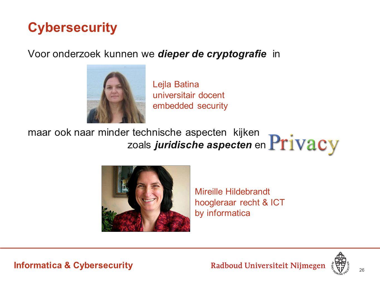 Cybersecurity Voor onderzoek kunnen we dieper de cryptografie in