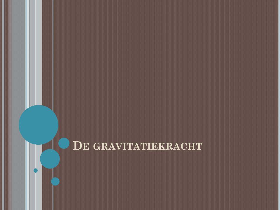De gravitatiekracht