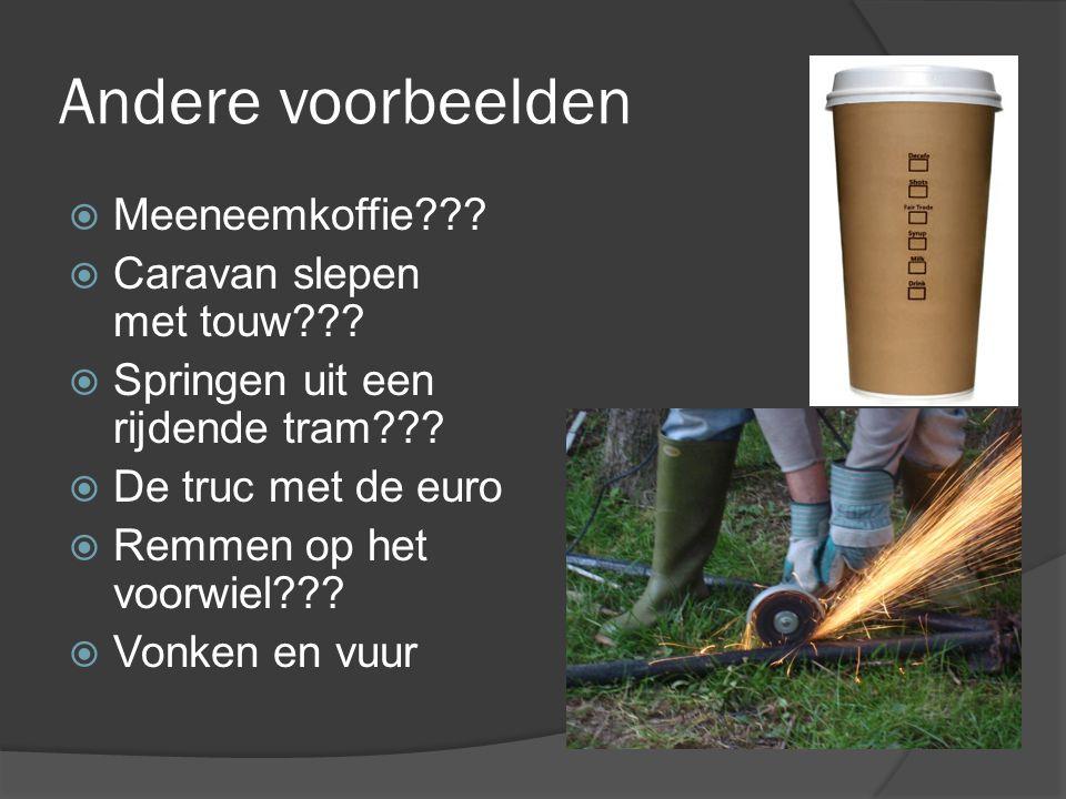 Andere voorbeelden Meeneemkoffie Caravan slepen met touw