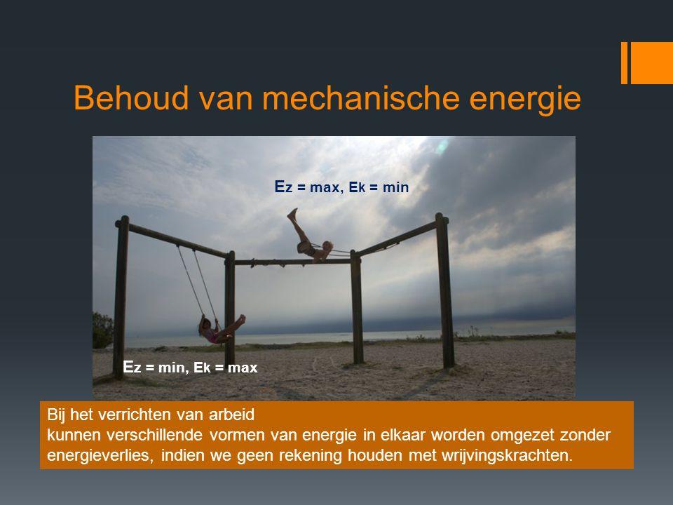Behoud van mechanische energie