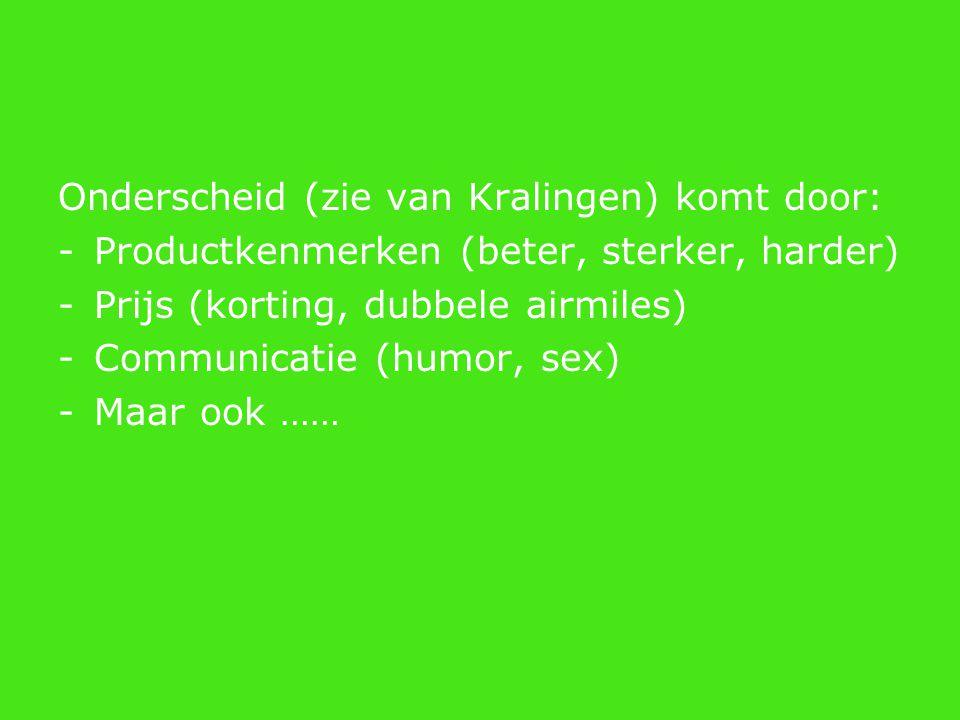 Onderscheid (zie van Kralingen) komt door: