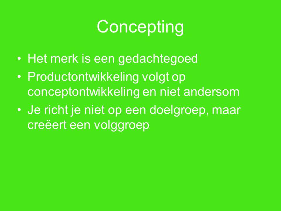 Concepting Het merk is een gedachtegoed