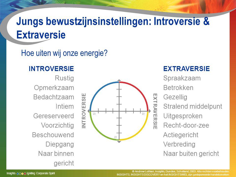 Jungs bewustzijnsinstellingen: Introversie & Extraversie