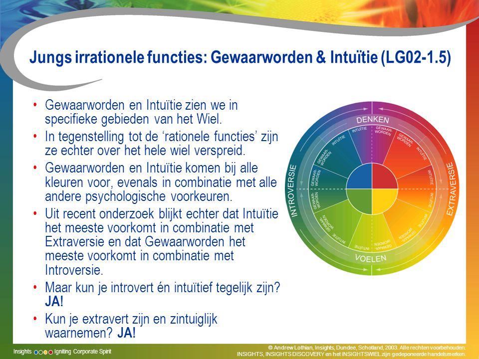 Jungs irrationele functies: Gewaarworden & Intuïtie (LG02-1.5)