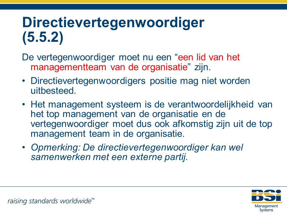 Directievertegenwoordiger (5.5.2)