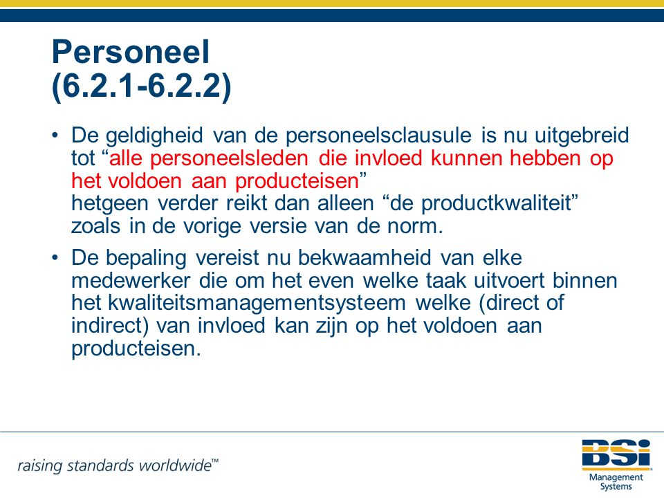 Personeel (6.2.1-6.2.2)