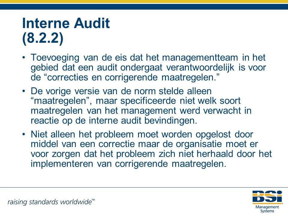 Interne Audit (8.2.2)
