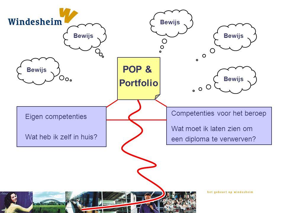 POP & Portfolio Competenties voor het beroep Eigen competenties