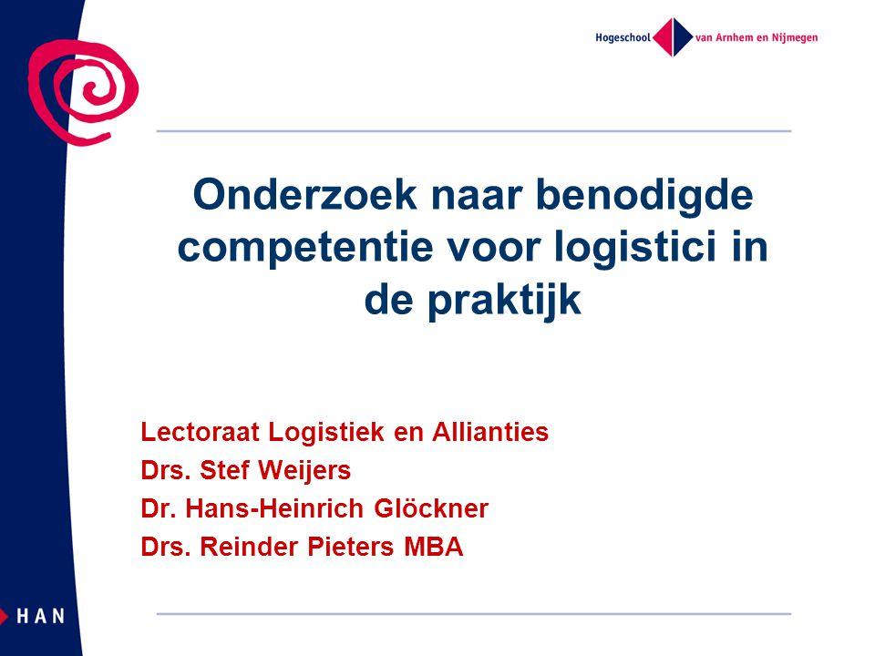 Onderzoek naar benodigde competentie voor logistici in de praktijk