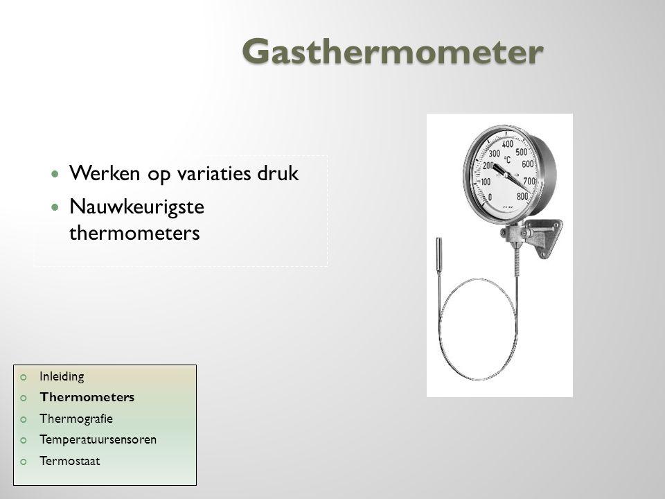 Gasthermometer Werken op variaties druk Nauwkeurigste thermometers