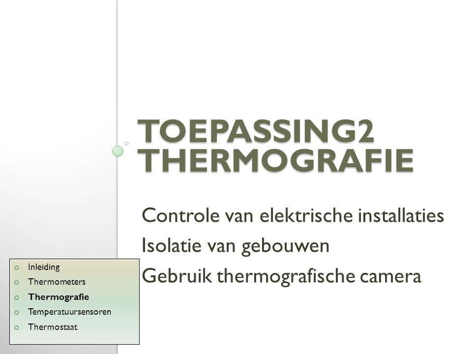 Toepassing2 thermografie