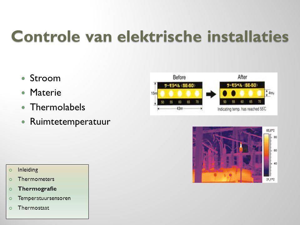 Controle van elektrische installaties