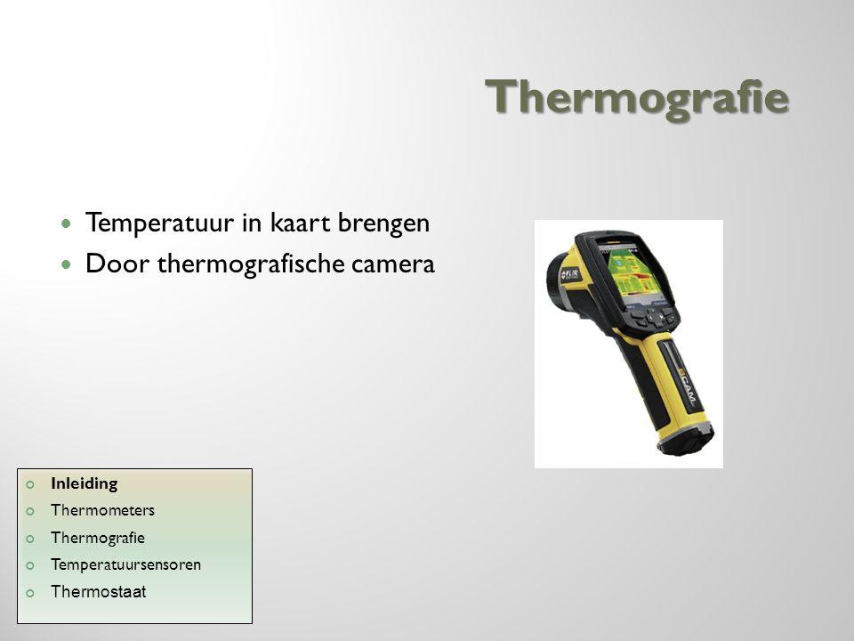 Thermografie Temperatuur in kaart brengen Door thermografische camera