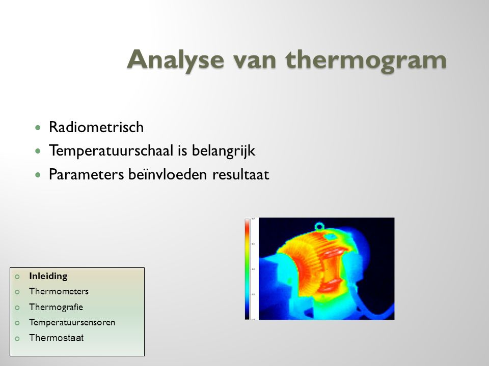 Analyse van thermogram