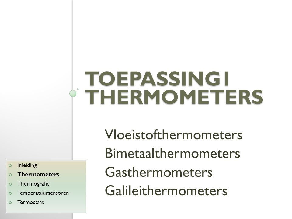 Toepassing1 THERMOMETERS