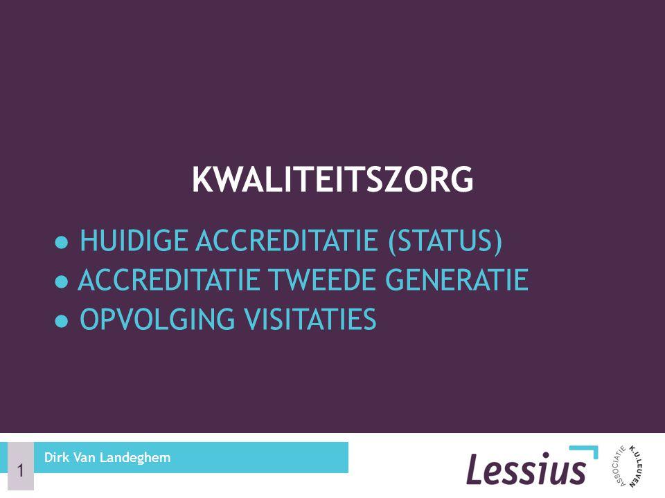 Kwaliteitszorg ● Huidige accreditatie (status)