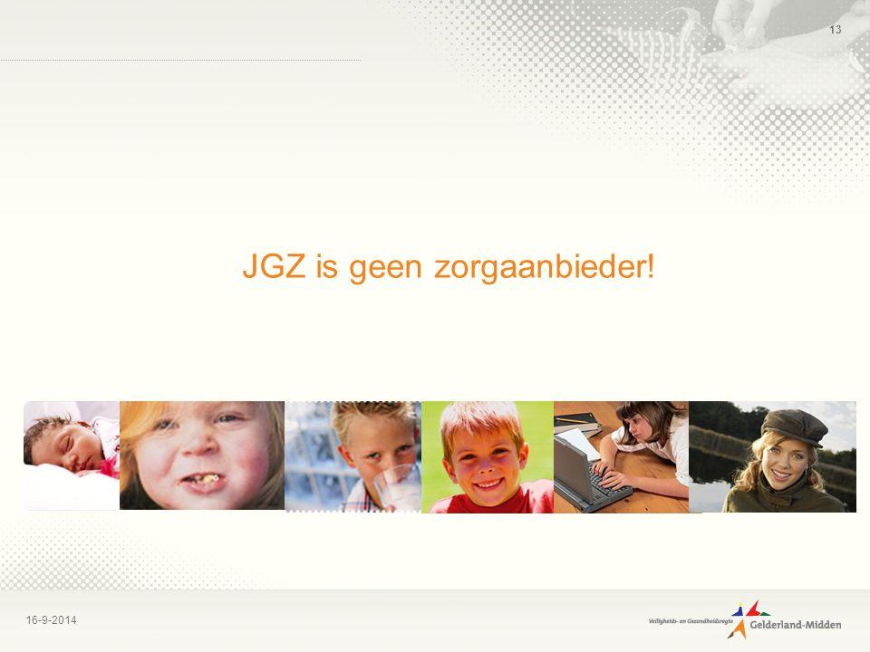 JGZ is geen zorgaanbieder!