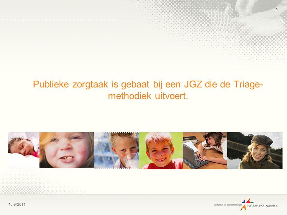 Publieke zorgtaak is gebaat bij een JGZ die de Triage-methodiek uitvoert.