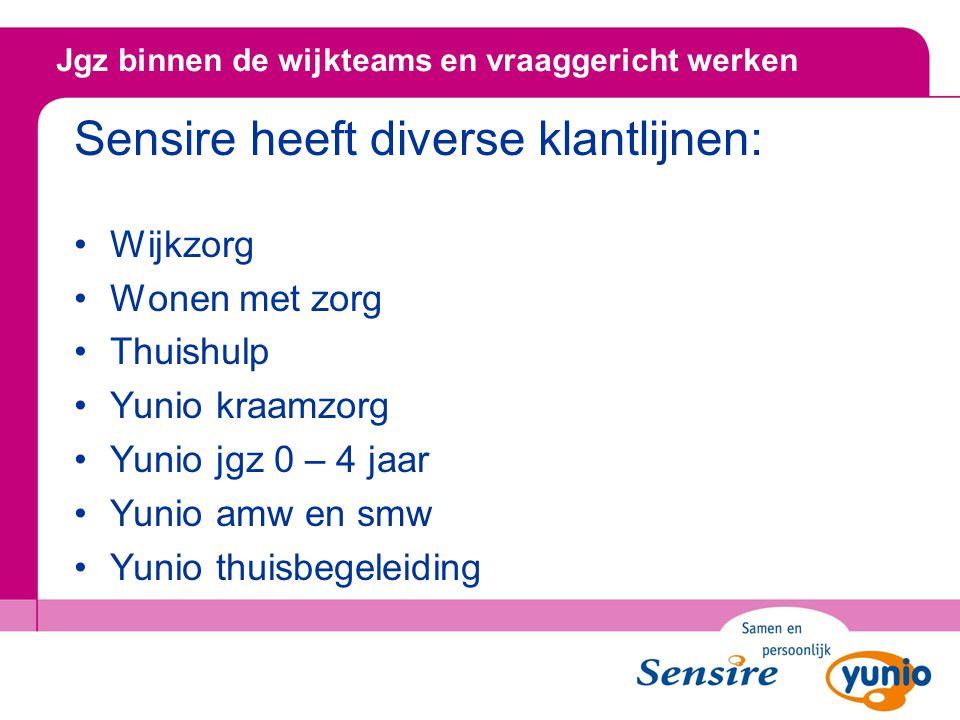 Sensire heeft diverse klantlijnen: