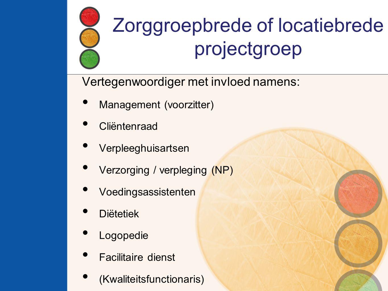 Zorggroepbrede of locatiebrede projectgroep