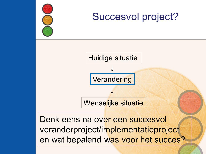 Succesvol project Denk eens na over een succesvol