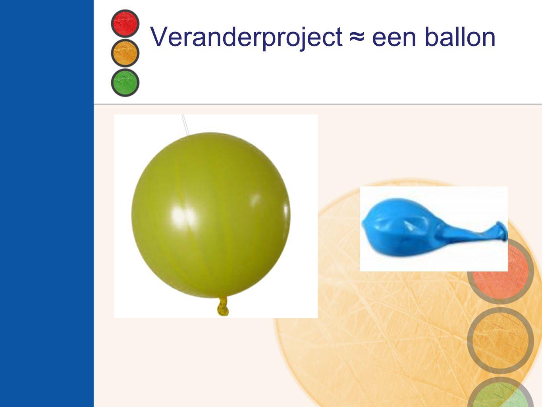 Veranderproject ≈ een ballon