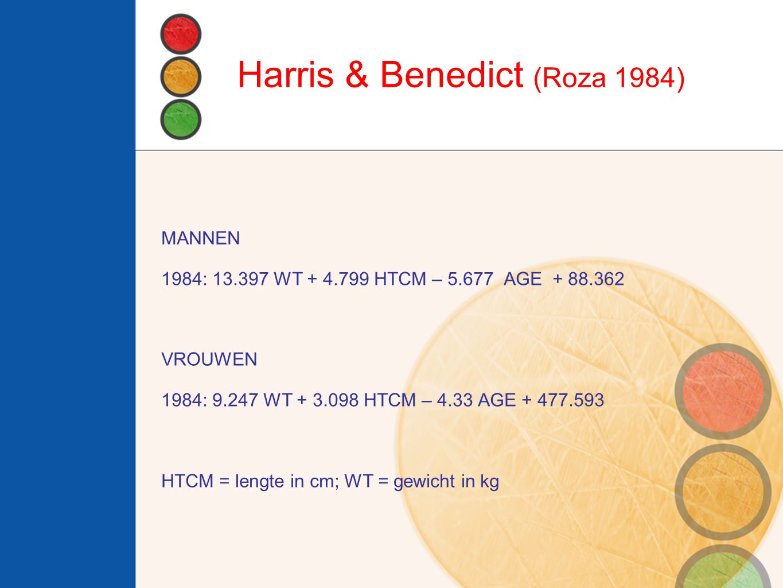 Harris & Benedict (Roza 1984)