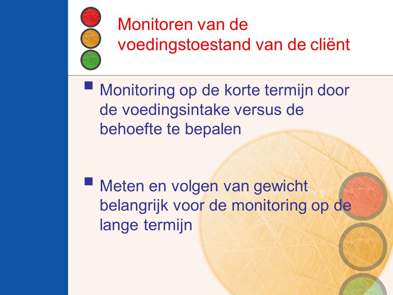 Monitoren van de voedingstoestand van de cliënt