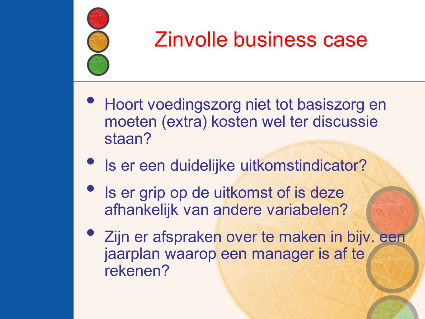 Zinvolle business case