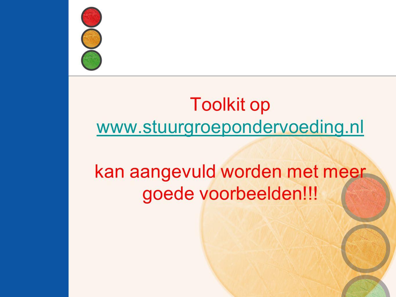 Toolkit op www. stuurgroepondervoeding