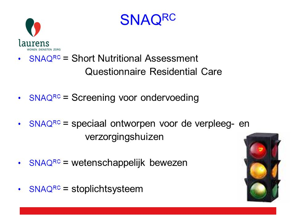 SNAQRC Questionnaire Residential Care verzorgingshuizen