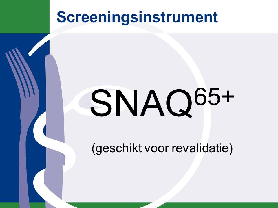 SNAQ65+ beslisboom onbedoeld gewichtsverlies afgelopen 6 maanden