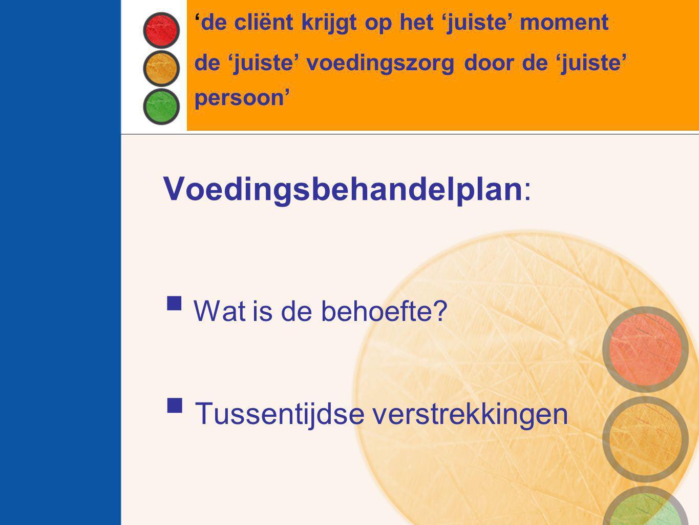Voedingsbehandelplan: