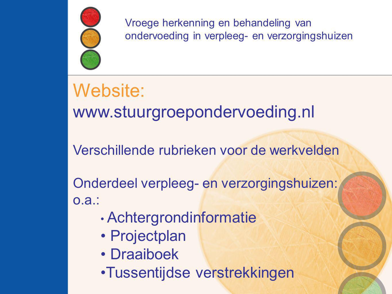 Website: www.stuurgroepondervoeding.nl Projectplan Draaiboek