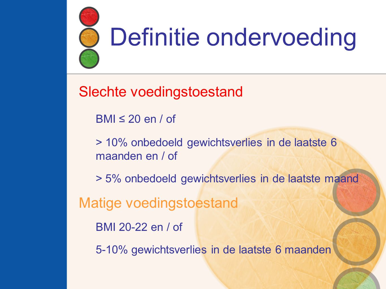 Definitie ondervoeding